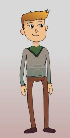 Illustration pour Illustration vectorielle homme en cardigan - image libre de droit