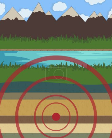 Earthquake vector illustration