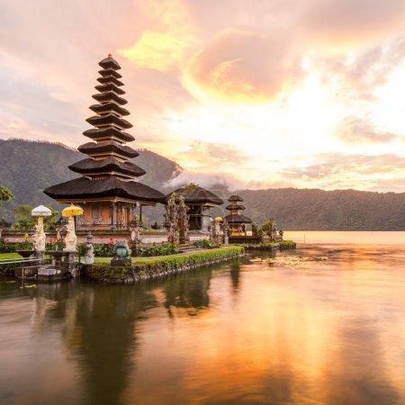 Photo for Pura Ulun Danu Bratan, Hindu temple on Bratan lake, Bali, Indonesia - Royalty Free Image