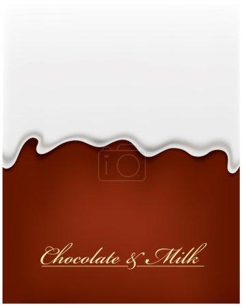 Milk splash on chocolate background