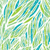 Abstract seamless pattern with water or floral elements in green blue and white colors in vector
