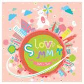Cute summer greeting card