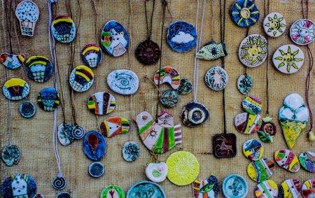 Colorful ceramics pendents