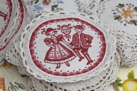 The embroidered napkin