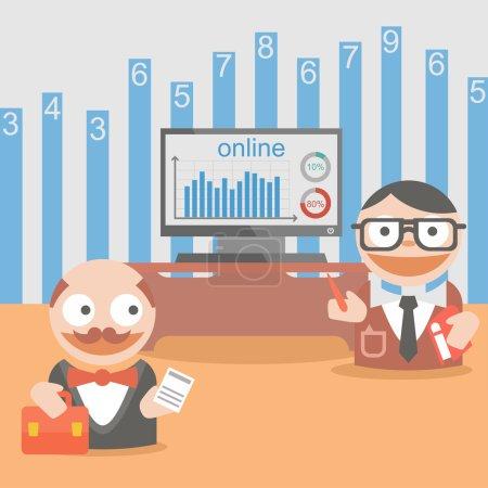 Ilustración de Programa de cliente de empresario - Imagen libre de derechos