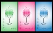 Collection of cocktail party poster, flyer, invitation or banner
