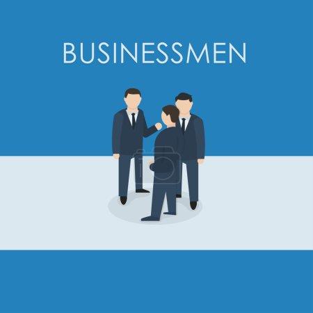 Three businessmen standing