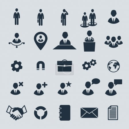 Illustration for Big set of business, human resources and miscellaneous vector icons. - Royalty Free Image