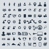 Big set of business human resources and miscellaneous vector icons