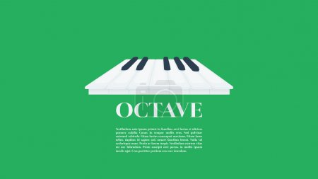 Three dimensional one octave piano keys