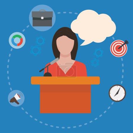 Conference public speaker woman