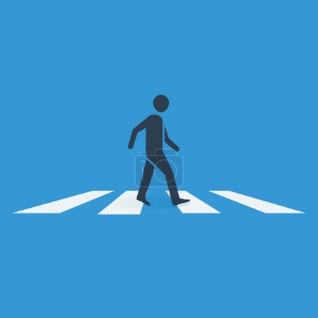 Illustration for Pedestrian crossing vector icon. - Royalty Free Image
