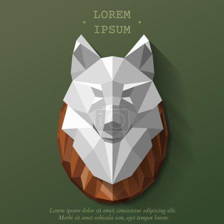 wolf poly head