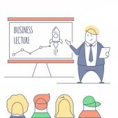 line art business lecture