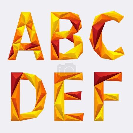 Vector abstract alphabet