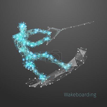 Wakeboarding polygonal