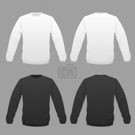 hoody white and black