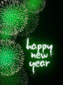 šťastný nový rok ohňostrojem ohňostroj