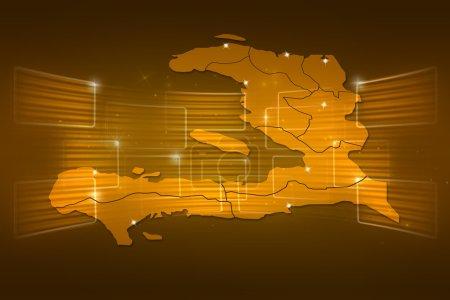 Haiti Map World map News Communication yellow gold