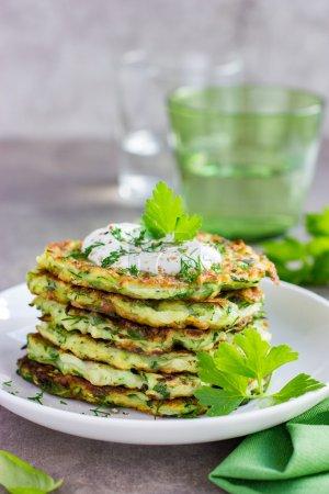 Vegetarian zucchini pancakes