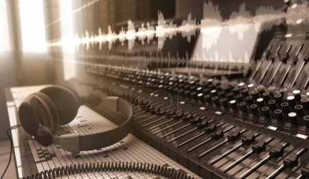 Photo for Electronic devices in the Sound studio - Royalty Free Image
