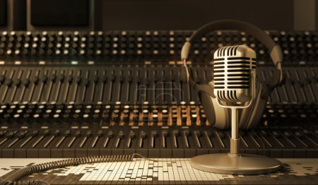 Photo for Microphone in the sound studio - Royalty Free Image