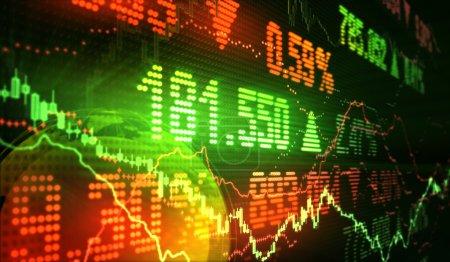 Photo pour Symboles financiers du marché boursier - image libre de droit