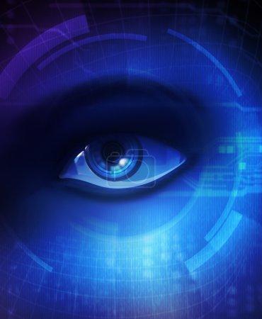 Eye of human and electronics