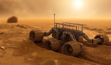 Photo pour Robot de l'homme sur Mars - image libre de droit