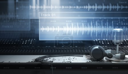 Photo for Sound Studio and Audio Tracks - Royalty Free Image