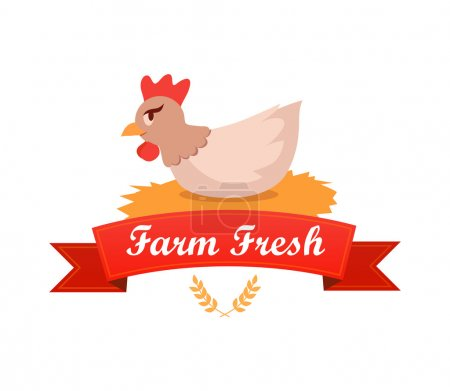 Emblem with Chicken Hatches Eggs