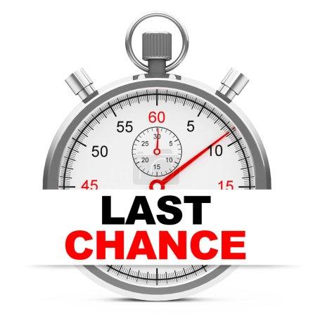 """Photo pour 3d généré image d'un chronomètre avec """"dernière chance"""" signe - image libre de droit"""