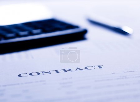 Close-up of a contract