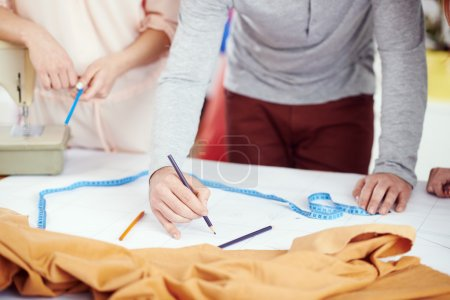 Designers draw on the sewing pattern
