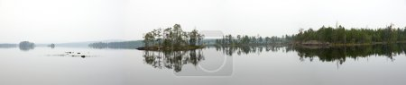 Misty lake panorama