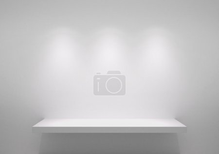 Photo pour Background empty Shelf.  With space for your text and picture. - image libre de droit