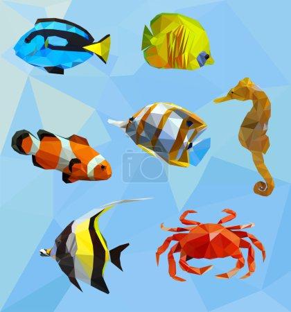Illustration pour Animaux, illustration vectorielle de la faune - image libre de droit