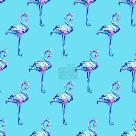 Illustration for Flamingo vector seamless background - Royalty Free Image