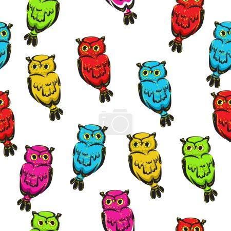 beautiful owls trendy print textiles