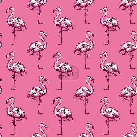 Flamingo sketch illustration. vector illustration...