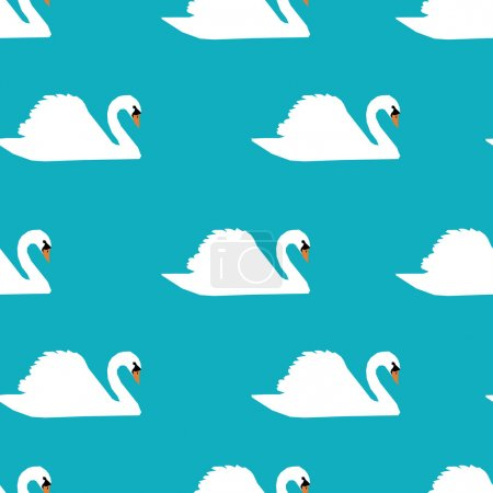 Swans on a background pattern