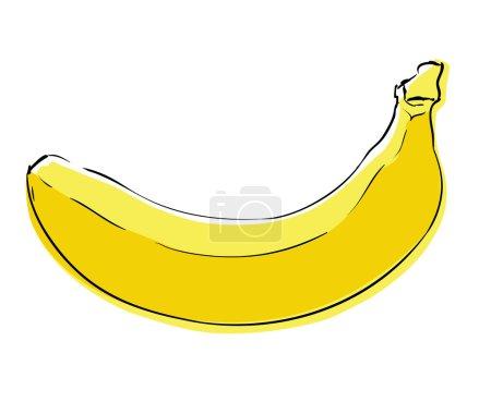 Illustration for Cartoon banana image vector illustration - Royalty Free Image