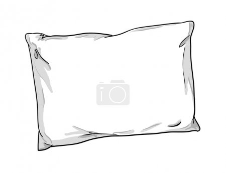 illustration of pillow sketch