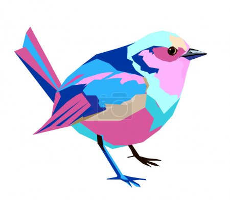 abstract colored bird