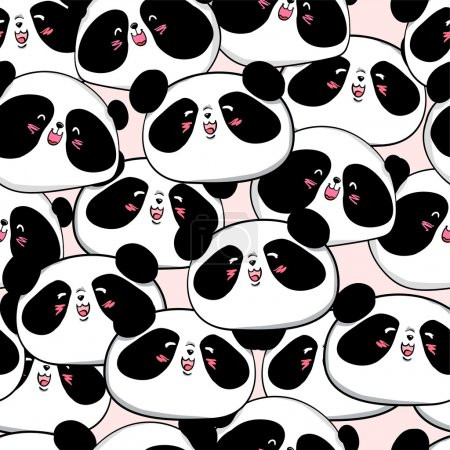 Cute panda seamless background