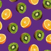 Oranges and kiwi fruits background