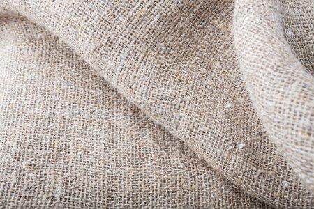 Foto de Textura de tela de arpillera de primer plano. Material antiguo generalmente para la ropa - Imagen libre de derechos