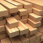 Construction materials. Closeup wooden boards. Ind...