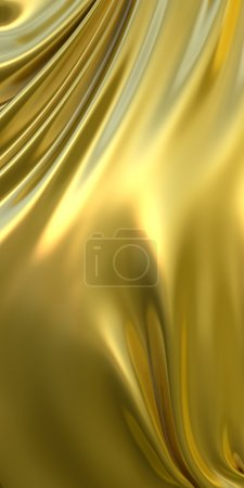 Background made of golden metallic cloth.