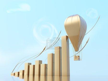 Economic growth. Conceptual business illustration.